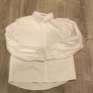 Pearl button down